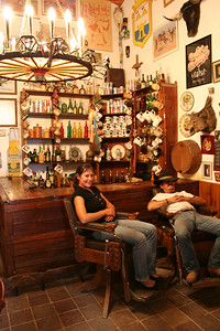jorge and lena chillin in the bar at tete's hacienda