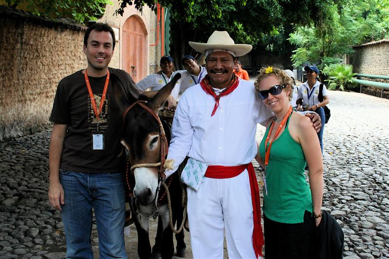 i'm not sure who he is.  but he has a burro, and that's pretty cool.  the herradura factory, tequila, jalisco.