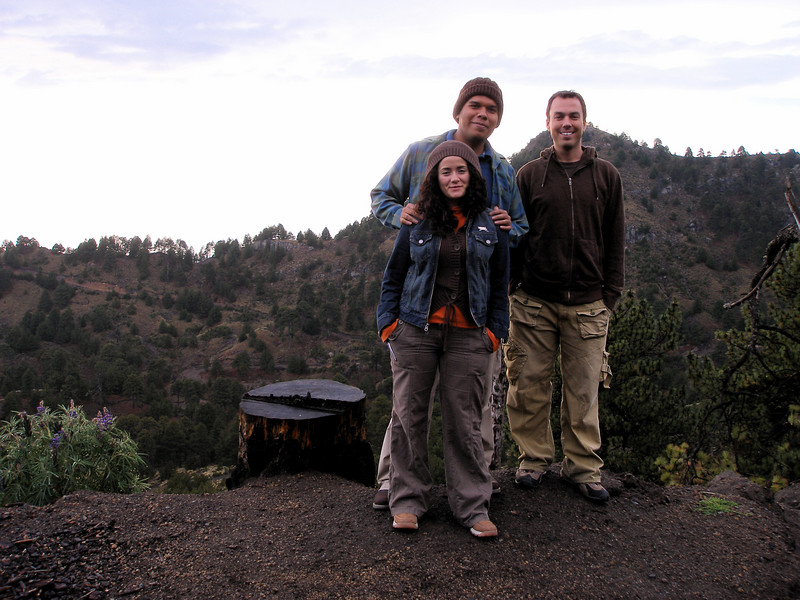 miguel, lupita and i on top of the volcano