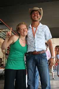 kike and rachel after a dance contest.  the herradura factory, tequila, jalisco.