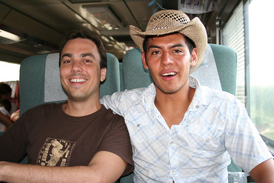 "me and kike on the ""tequila express"""
