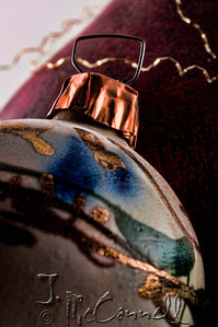 Handmade Clay Christmas Ornament Closeup