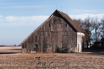 Winter Drab Nebraska Barn