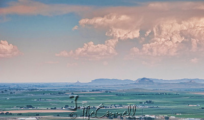 Chimney Rock From Scottsbluff