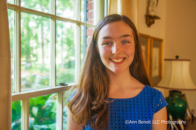 Mary Queen of Peace of Mandeville's Outstanding Student Kate Rush stands at her parent's home in Covington.