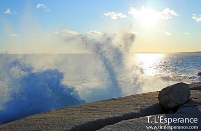 Breaking Wave near Peggy's Cove, Nova Scotia.