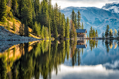 Lake Agnes Tea House (12x18) - NEW!