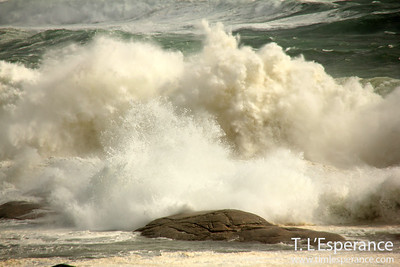 Breaking Wave near Peggy's Cove, NS.