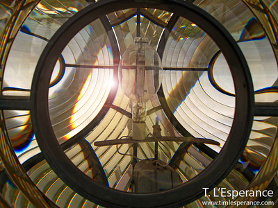 Lighthouse lens assembly taken at Gibbs Lighthouse in Bermuda.