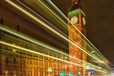 Lights on Big Ben (12x18)
