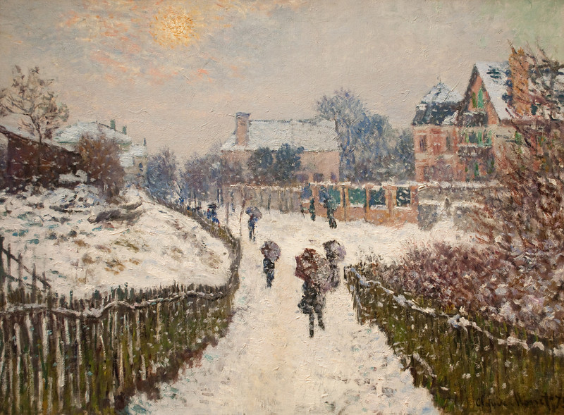 Claude Monet<br /> Boulevard Saint-Denis, Argenteuil, in Winter<br /> 1875