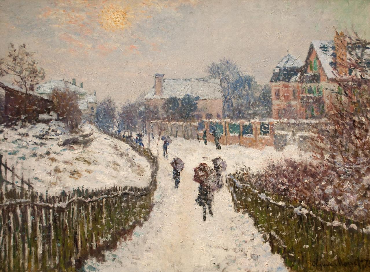 Claude Monet<br /> Boulevard Saint-Denis, Argenteuil, in Winter<br /> 1875