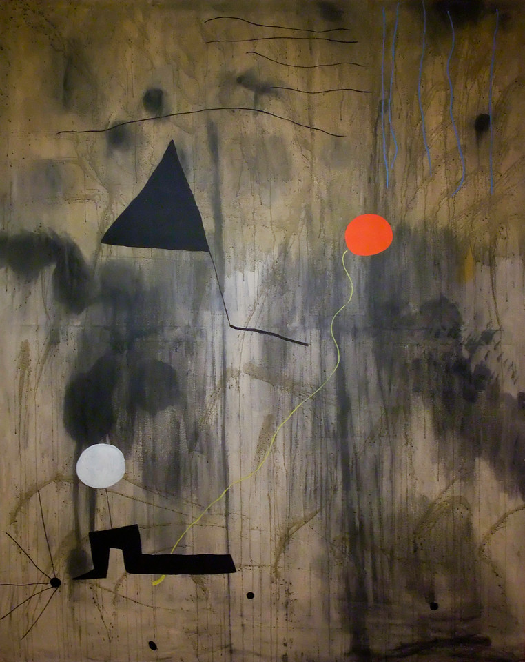 """The Birth of the World<br /> Joan Miró (Spanish, 1893-1983)<br /> 1925. Oil on canvas, 8' 2 3/4"""" x 6' 6 3/4"""" <br /> Museum of Modern Art"""