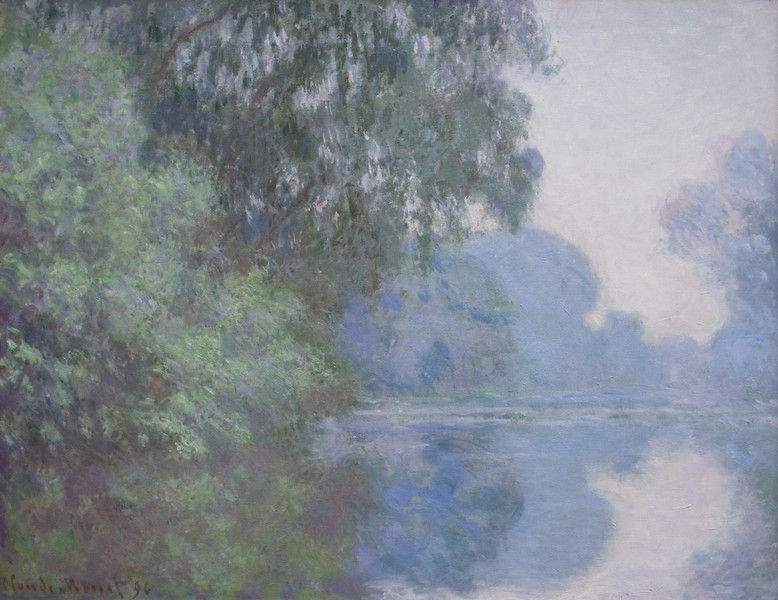 Morning on the Seine, near Giverny<br /> Claude Monet (French, 1840–1926)<br /> 1897. Oil on canvas. 32 x 36 1/2 in<br /> Boston Museum of Fine Arts