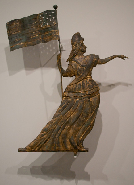 William Henis<br /> Goddess of Liberty Weathervane<br /> 1860-80