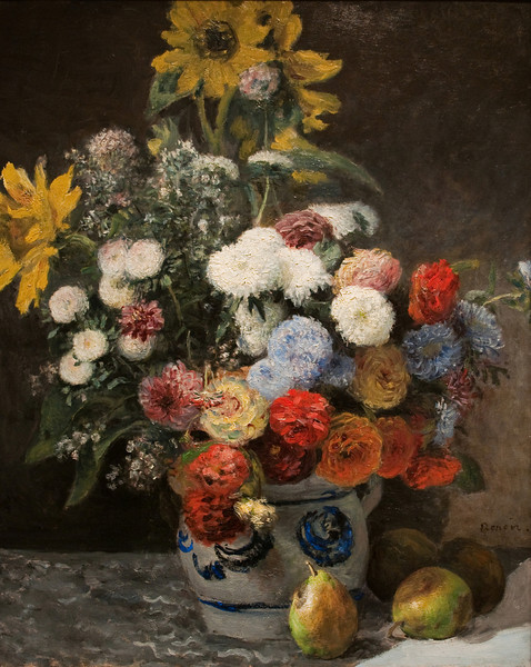 Pierre-Auguste Renoir<br /> Mixed Flowers in an Earthenware Pot<br /> 1869