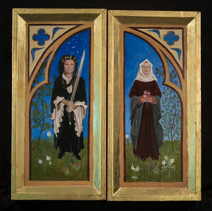 Triptych Folded Closed on the Hinges