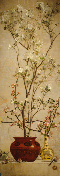 Charles Coleman<br /> Still Life with Azaleas and Apple Blossoms<br /> 1878
