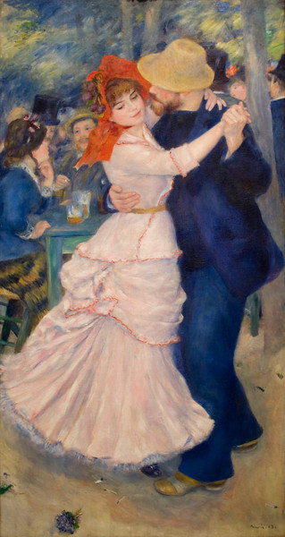 Dance at Bougival<br /> Pierre-Auguste Renoir (French, 1841–1919)<br /> 1883. Oil on canvas. 71 5/8 x 38 5/8 in<br /> Boston Museum of Fine Arts