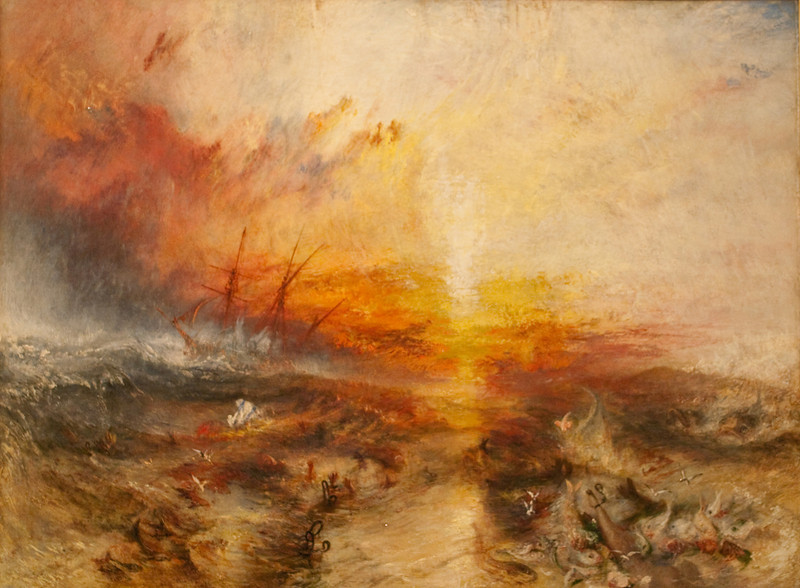 Joseph Turner<br /> Slave Ship (Slavers Throwing Overboard the Dead and Dying, Typhoon Coming On)<br /> 1840