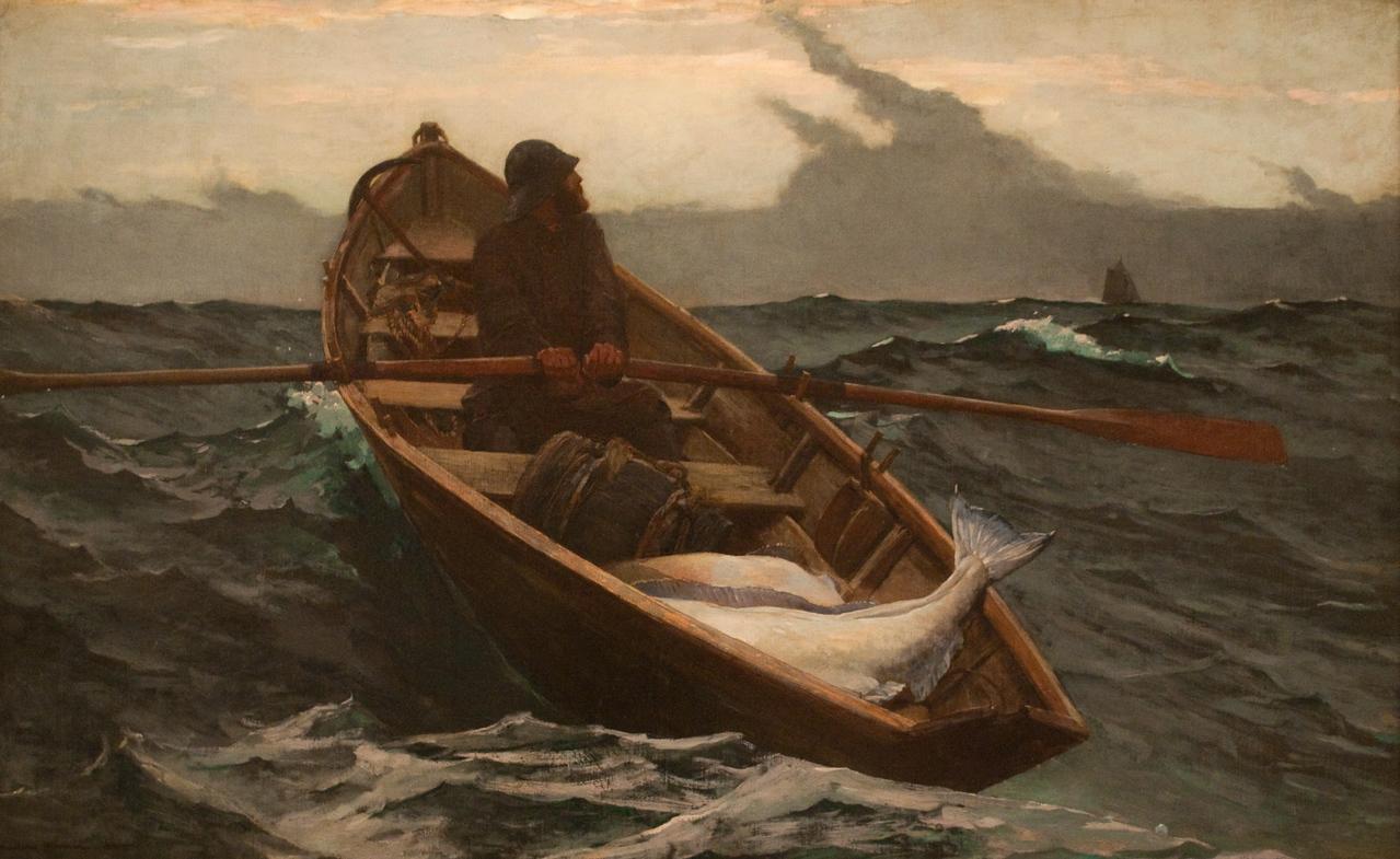 Winslow Homer<br /> The Fog Warning<br /> 1885