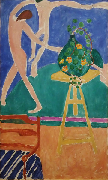 "Nasturtiums with the Painting ""Dance""<br /> Henri Matisse (French, 1869–1954)<br /> 1912. Oil on canvas. 75-1/2 x 45-3/8 in.<br /> Metropolitan Museum of Art"