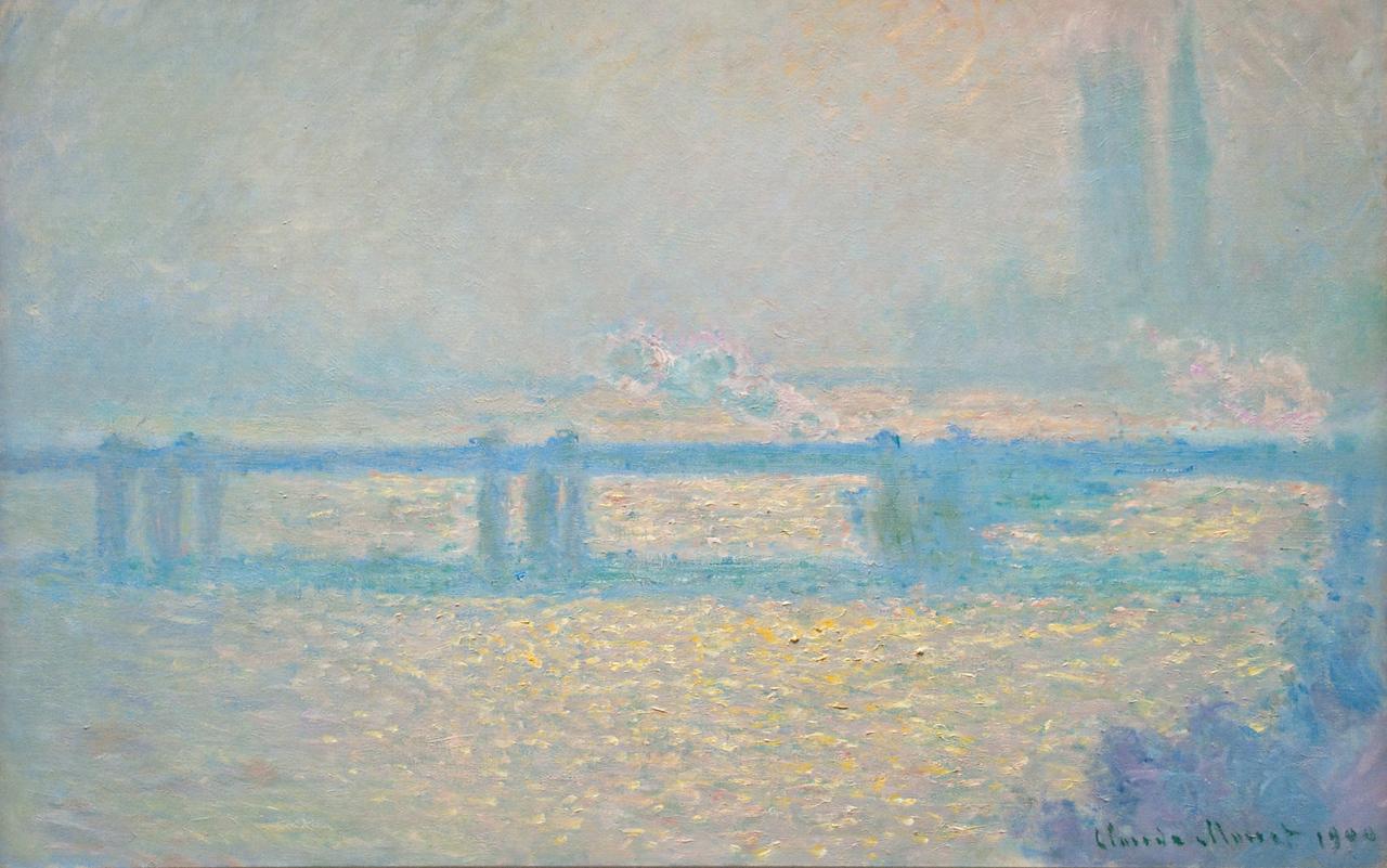 Claude Monet<br /> Charing Cross Bridge, Overcast Day<br /> 1900