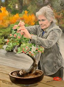 Martha Tending Bonsai II