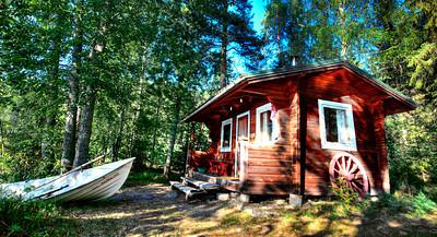 Waterfront sauna, rural Finland.