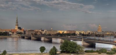 Riga, Latvia, and the Daugava River.