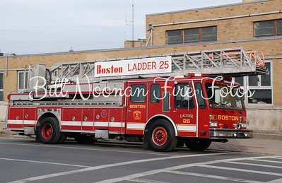 Ladder Co. 25..re-built Emergency One 110 foot stick....now a reserve rig