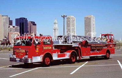 Ladder Co. 1..re-built Maxim 100 foot ladder...one of our last tillers...