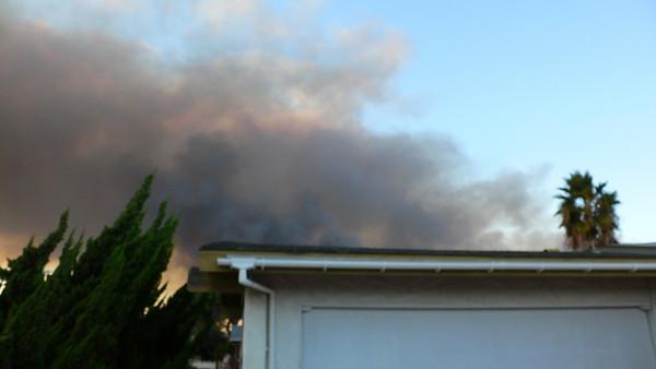 Fire at Camp Pendleton Base 10 13 2008