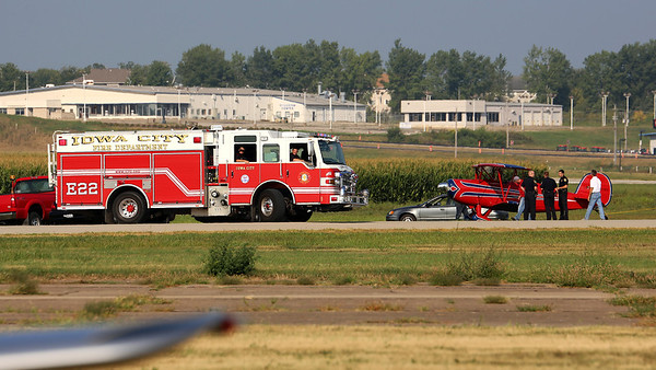 Rough Landing at the Iowa City Airport