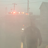 Heavy smoke conditions presented a challenge to fire crews throughout the morning.