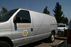The San Dimas station mobile communications van. Dave and I work out of the Crescenta Valley station which doesn't have a mobile van.