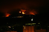 Taken Friday, approx 9:00pm from Windsor Ave near Ventura Ave in Altadena, west side of JPL. If looking straight north at this time and picturing a clock, the fire had now progressed far west as the 12:30 pm position. This shot is about an 10:30 position, overlooking JPL.