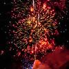 Fireworks show on Lake Chelan