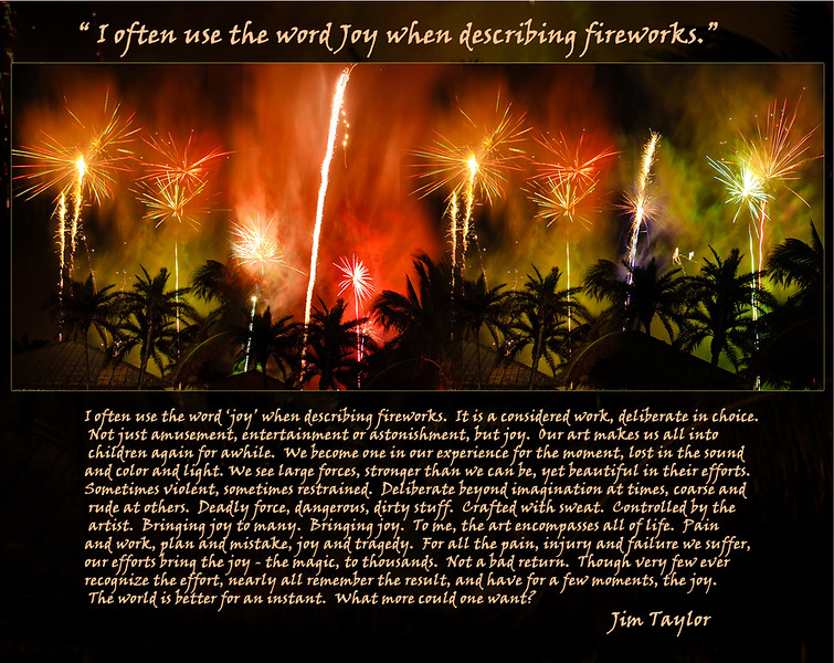"""Jim Taylor's fireworks over the Beachhouse Restaurant on New Year's 2006.   <a href=""""http://www.GrouperSandwich.com"""">http://www.GrouperSandwich.com</a>"""