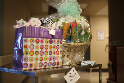 Special gifts from Mercy Hospital for the first baby of 2013.  photo by Ray Riedel