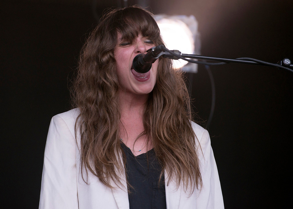 . Beach House lead signer Victoria Legrand performs at the First City Music Festival, Saturday, August 24th, 2013 at the Monterey Fairgrounds. (Matthew Hintz/Monterey County Herald)