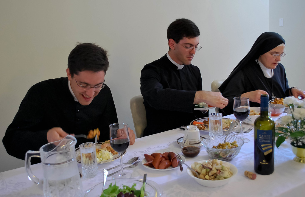 Father Polley's potluck