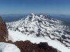 From the summit of South Sister, looking north to Middle & North Sisters.