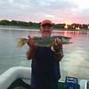 24 inches off Todd Sando's boat.