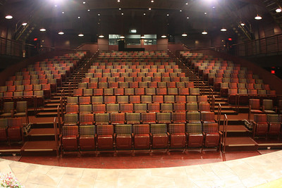 The Roger S. Berlind Theatre at McCarter Theatre Center.  All of the seats are actually curved, but the fisheye makes them look straight.