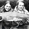Cathy Campbell and Jim Bates hold a 27-pound steelhead Jim caught in the Snake River about seven miles west of Clarkston.