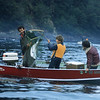 Frank Haw nets a king salmon for John.