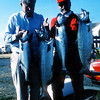 The late Judge Jim Bates (red jacket) and I caught these king salmon on Midchannel Bank near Port Townsend, WA.