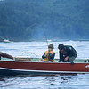 Our son John plays a king salmon near Sekiu in the Strait of Juan de Fuca.