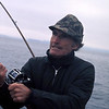 Well-known Northwest photographer Josef Scaylea put down his camera for a few minutes to fish for coho off the Washington Coast at La Push.